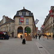 Dijon Street Corner Art Print
