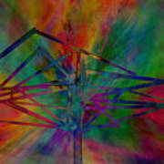 Dimensional Antenna Art Print