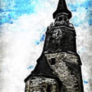 Dinan Clock Tower Art Print