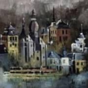 Dinant Watercolor Art Print