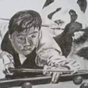 Ding Junhui Snooker Art Print