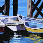 Dinghies At The Dock Art Print