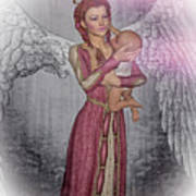 Diniel - Angel Who Protects Infants Art Print