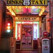 Dinks Taxi 1 Art Print
