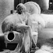 Dinner At Eight, Jean Harlow Art Print by Everett