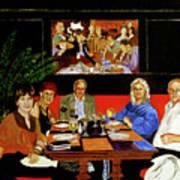 Dinner At Th Algonquin Hotel Art Print