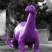 Dino Selective Coloring In Ultra Violet Purple Photography By Colleen Art Print