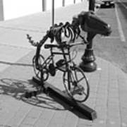 Dinosaur Biking Sculpture Grand Junction Co Art Print