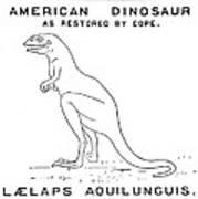 Dinosaur: Dryptosaurus Art Print