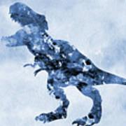 Dinosaur Rex-blue Art Print