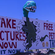Dinosaur Sign Take Pictures Now Art Print