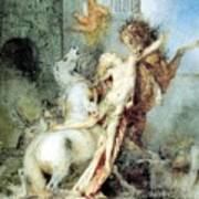 Diomedes Devoured By His Horses Watercolour Gustave Moreau Art Print