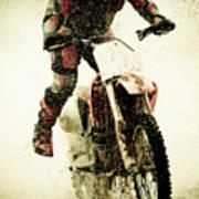 Dirt Bike Rider Print by Thorpeland Photography