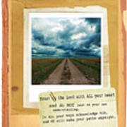 Dirt Road With Scripture Verse Art Print