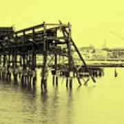 Disappearing Pier Art Print