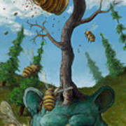Disavowing Bear Art Print