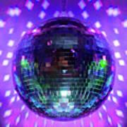 Disco Ball Purple Art Print