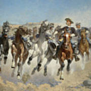 Dismounted The Fourth Troopers Moving The Led Horses Art Print