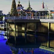 Disney Christmas Reflections Art Print