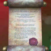 Disney World Christmas In The United States Scroll Art Print