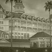 Disney World The Grand Floridian Resort Vintage Art Print