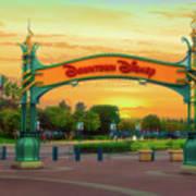 Disneyland Downtown Disney Signage 02 Art Print
