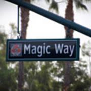 Disneyland Magic Way Street Signage Art Print