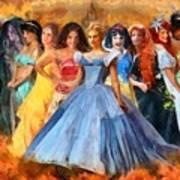 Disney's Princesses Art Print