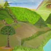 Distance Golf Art Print