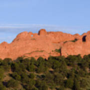 Distant Camels In The Garden Of The Gods Art Print