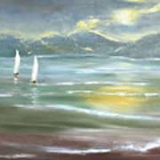 Distant Coast Art Print
