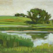 Distant Farm Art Print