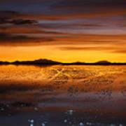 Distant Hills At Sunset Art Print