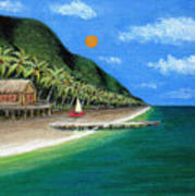 Distant Shores Art Print by Gordon Beck