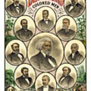 Distinguished Colored Men   1883 Art Print by Daniel Hagerman