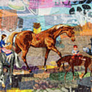 Distracted Riding Art Print by Martha Ressler