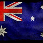 Distressed Australia Flag Art Print