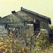 Distressed Honey House Door County Wisconsin Art Print