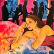 Ditched, Nightclub Bar Painting Art Print