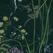Ditchweed Fairy Cattails Art Print