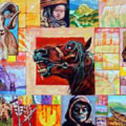 Divided Land - Crying Horse Art Print