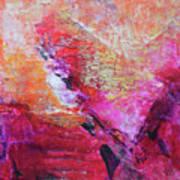 Divine Heart Abstract Orange Pink Heart Painting 8x10 Original Contemporary Modern Painting Art Print