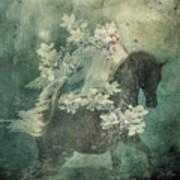 Divine Horse Whisperer Art Print