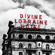 Divine Lorraine Hotel Marquee Art Print