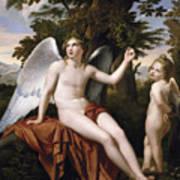 Divine Love And Profane Love Art Print