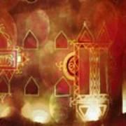 Diwali Card Lamps And Murals Blue City India Rajasthan 2h Art Print