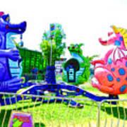 Dizzy Dragon Ride 1 Art Print
