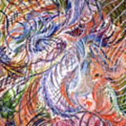 Dizzy Feathers Art Print