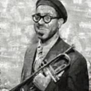 Dizzy Gillespie Vintage Jazz Musician Art Print