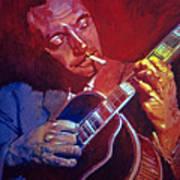 Django Sweet Lowdown Art Print by David Lloyd Glover